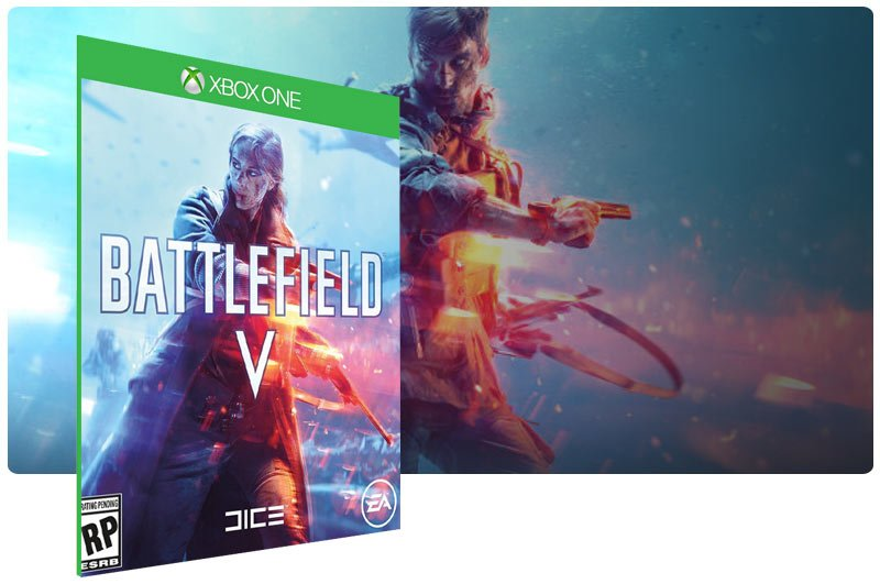 Banner do game Battlefield V em mídia digital para Xbox One