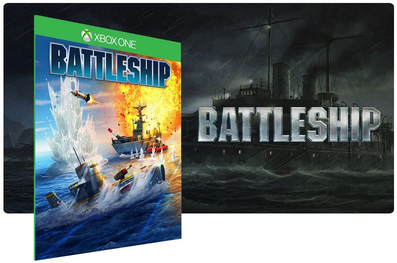 Banner do game Battleship em mídia digital para Xbox One