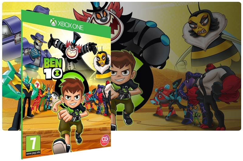 Banner do game Ben 10 em mídia digital para Xbox One