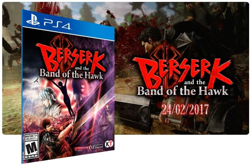 Banner do game Berserk And The Band Of The Hawk para PS4