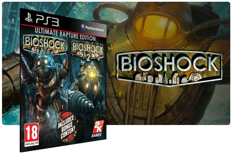 Banner do game BioShock 1 e 2 para PS3