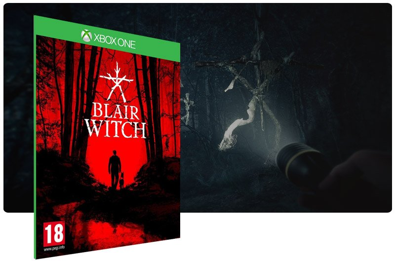 Banner do game Blair Witch em mídia digital para Xbox One