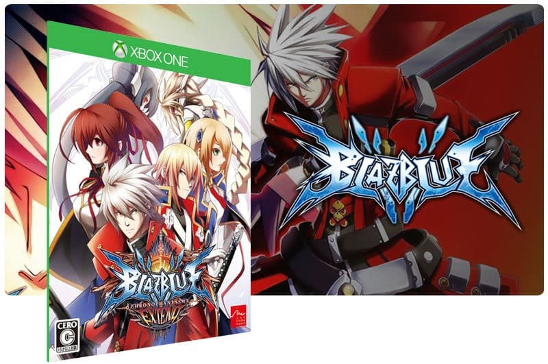 Banner do game Blazblue Chrono Phantasma em mídia digital para Xbox One