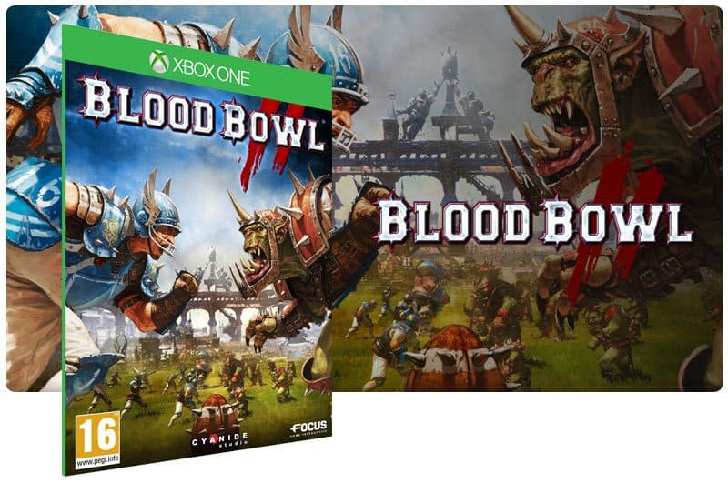 Banner do game Blood Bowl 2 em mídia digital para Xbox One