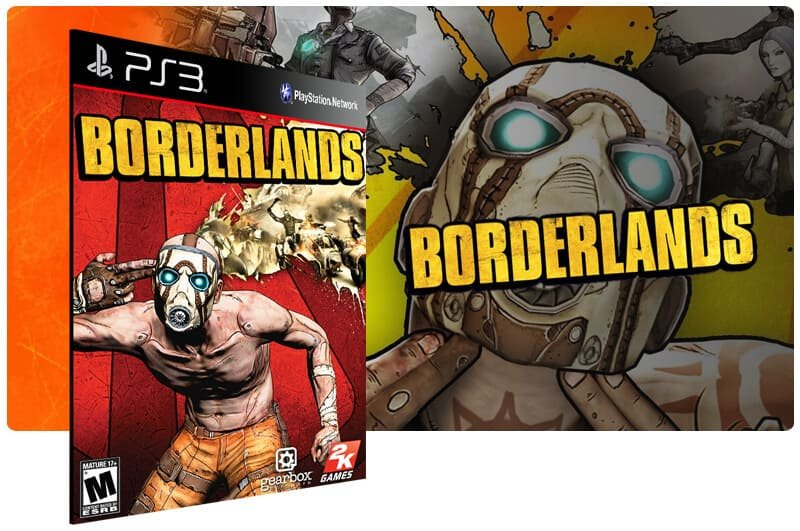 Banner do game Borderlands para PS3