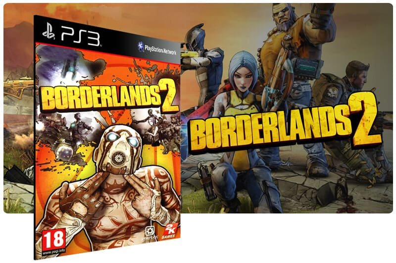 Banner do game Borderlands 2 para PS3