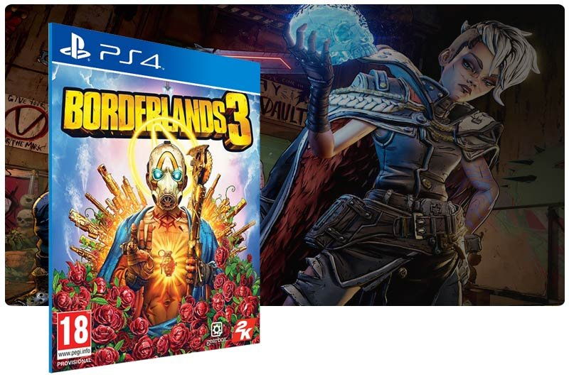 Banner do game Borderlands 3 em mídia digital para PS4
