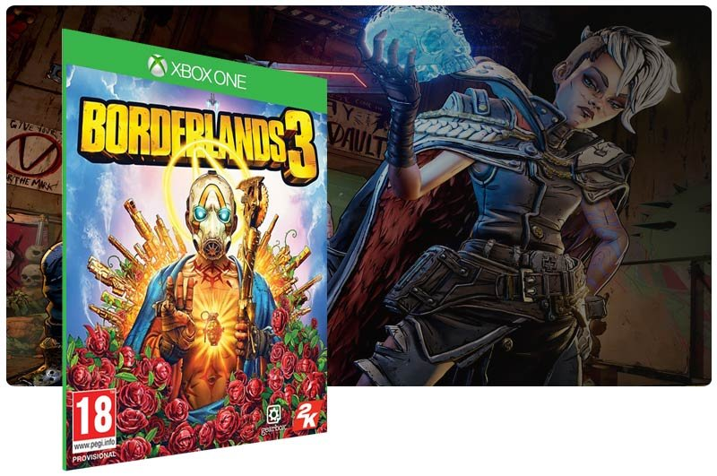 Banner do game Borderlands 3 em mídia digital para Xbox One