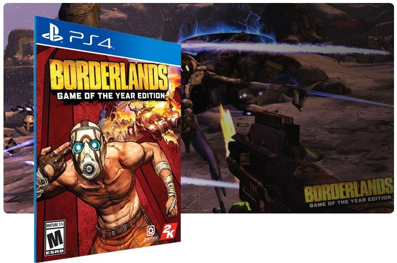 Banner do game Borderlands: Game of the Year Edition em mídia digital para PS4