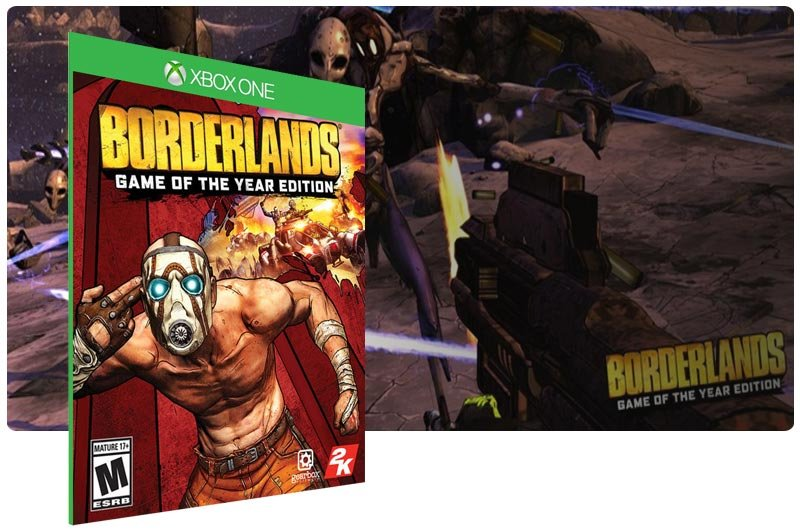 Banner do game Borderlands: Game of the Year Edition em mídia digital para Xbox One