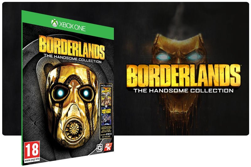 Banner do game Borderlands: The Handsome Collection em mídia digital para Xbox One