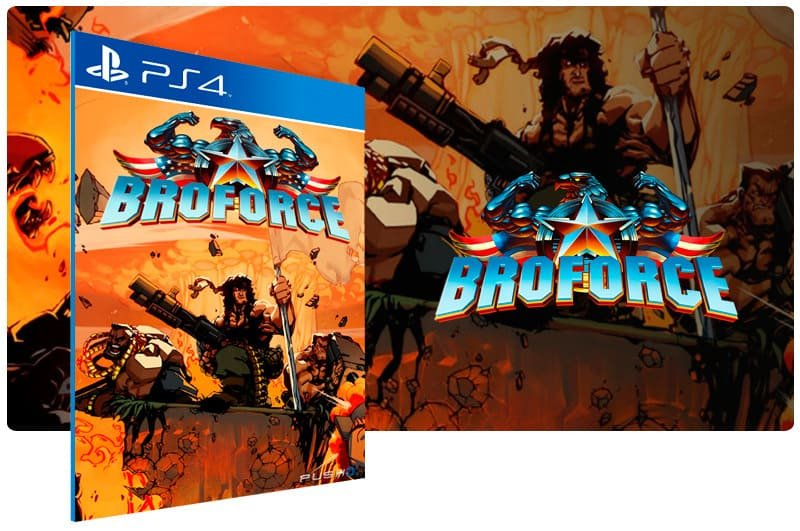 Banner do game Broforce para PS4