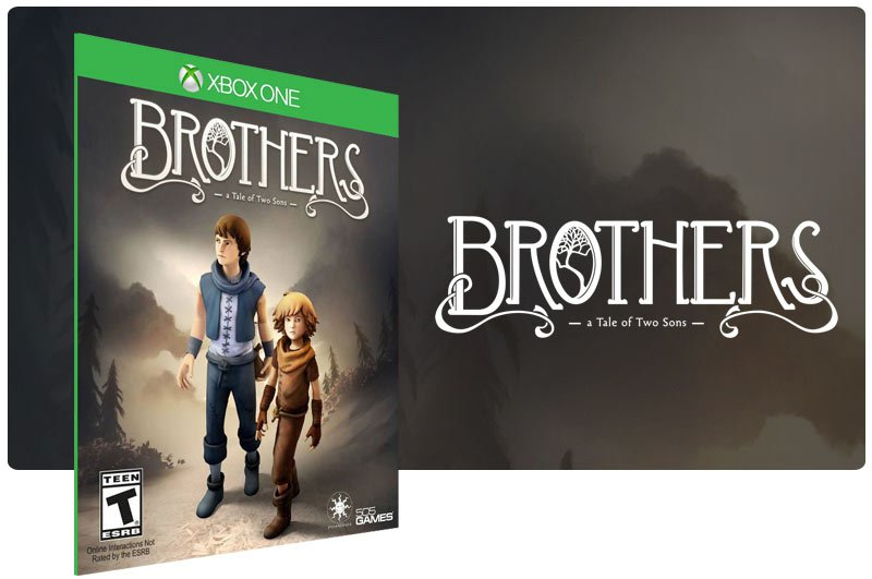 Banner do game Brothers: A Tale of Two Sons em mídia digital para Xbox One