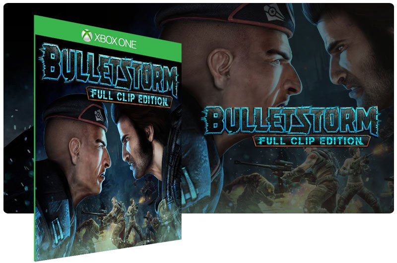Banner do game Bulletstorm Full Clip Edition em mídia digital para Xbox One