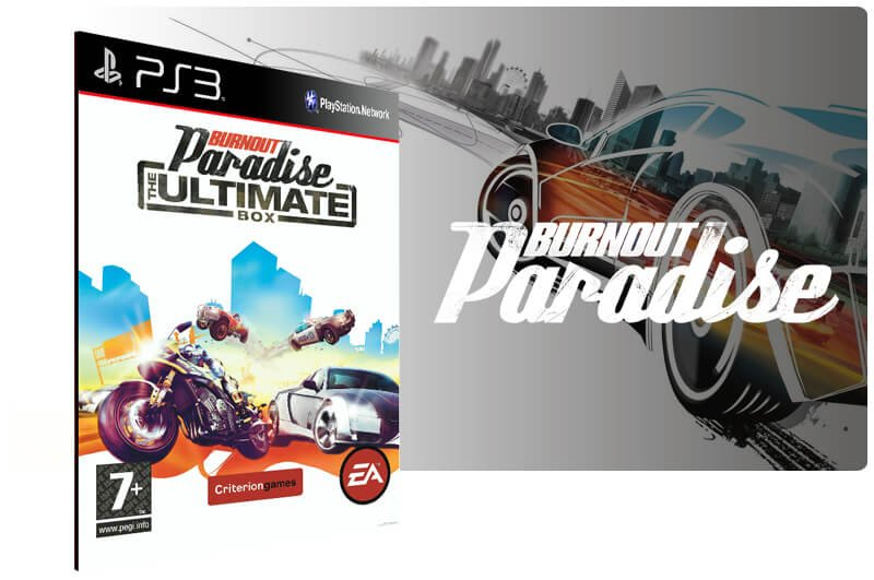 Banner do game Burnout Paradise Ultimate Edition para PS3