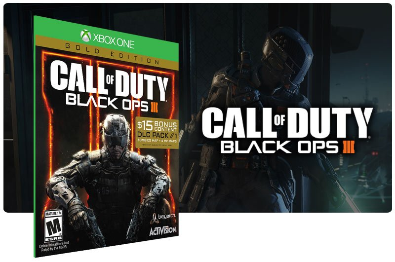 Banner do game Call of Duty Black Ops 3 em mídia digital para Xbox One