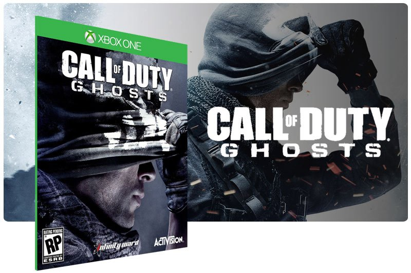 Banner do game Call of Duty Ghosts em mídia digital para Xbox One