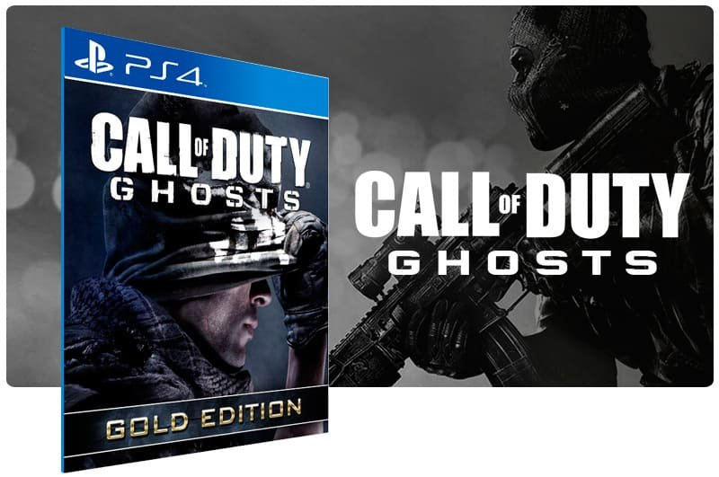 Banner do game Call Of Duty Ghosts Gold Edition para PS4