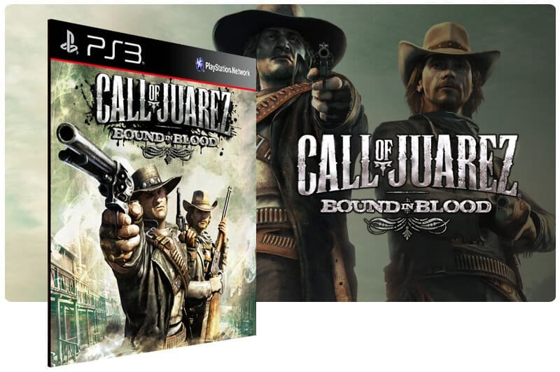 Banner do game Call Of Juarez Bound In Blood para PS3