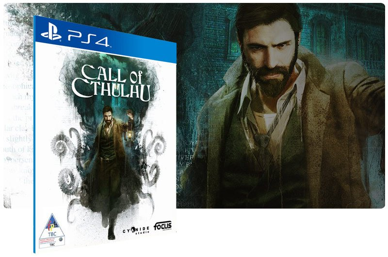 Banner do game Call of Cthulhu para PS4