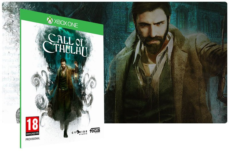 Banner do game Call of Cthulhu em mídia digital para Xbox One