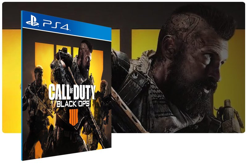 Banner do game Call of Duty Black Ops 4 COD BO4 em mídia digital para PS4