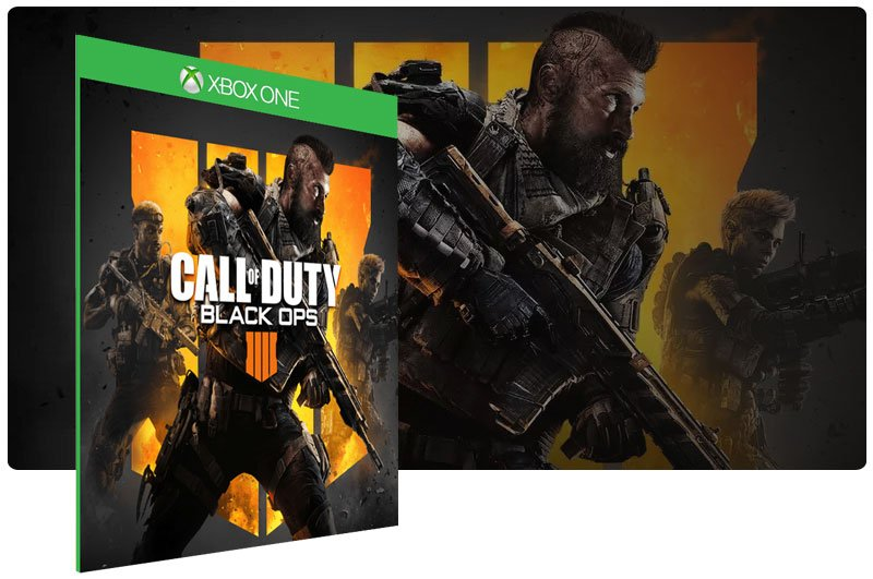 Banner do game Call of Duty Black Ops 4 em mídia digital para Xbox One