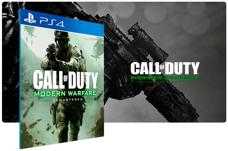 Banner do game Call of Duty: Modern Warfare Remastered para PS4