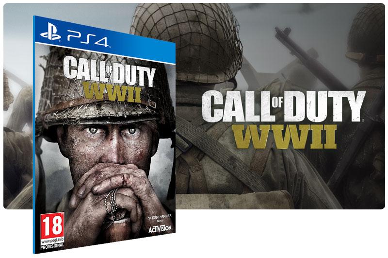 Banner do game Call of Duty World War 2 para PS4
