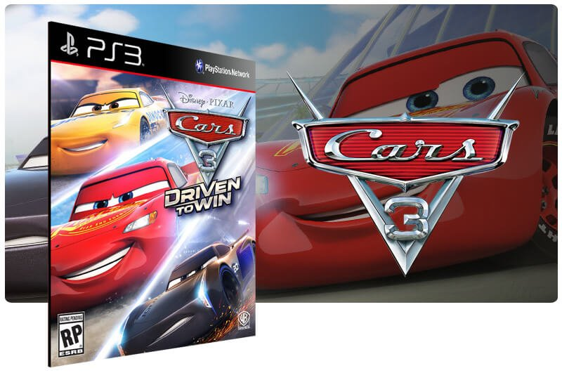 Banner do game Cars 3 Driven to Win para PS3