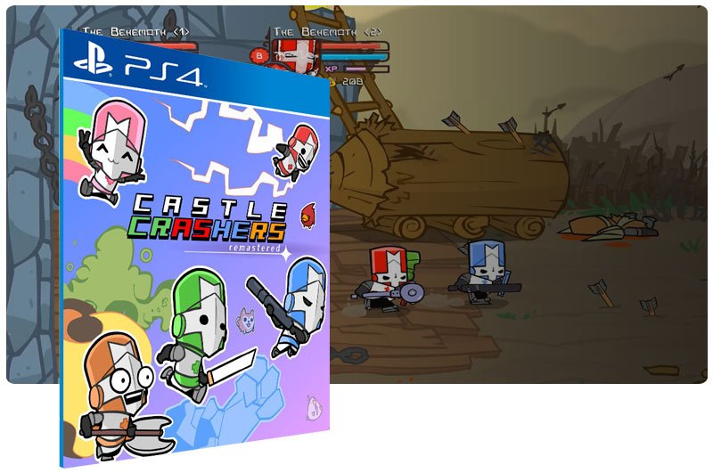 Banner do game Castle Crashers Remastered para PS4