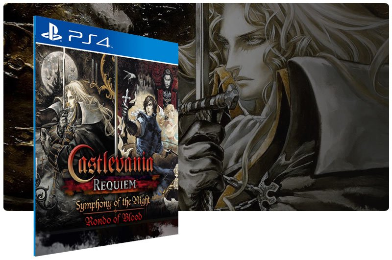 Banner do game Castlevania Requiem Symphony of the Night & Rondo of Blood para PS4