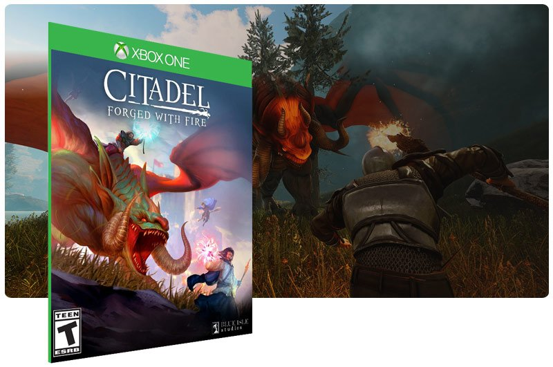 Banner do game Citadel: Forged with Fire em mídia digital para Xbox One