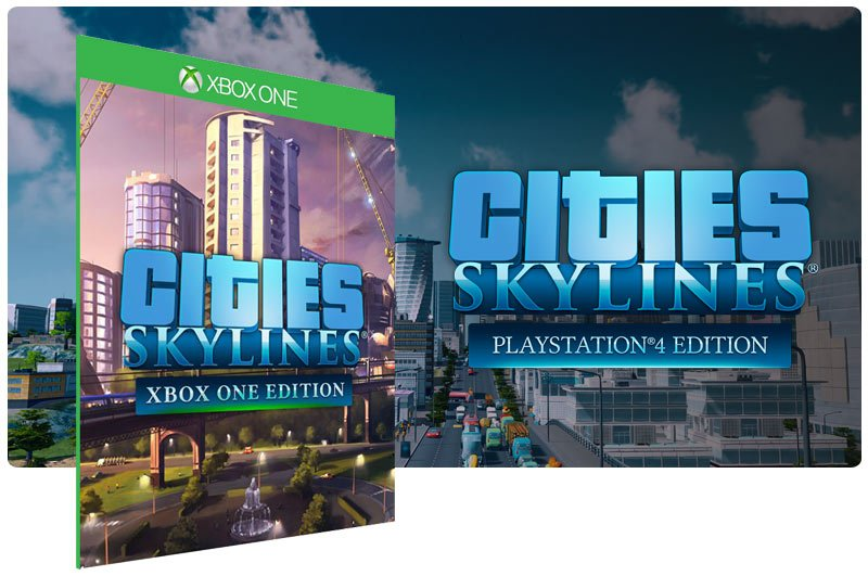 Banner do game Cities Skylines Xbox One Edition em mídia digital para Xbox One