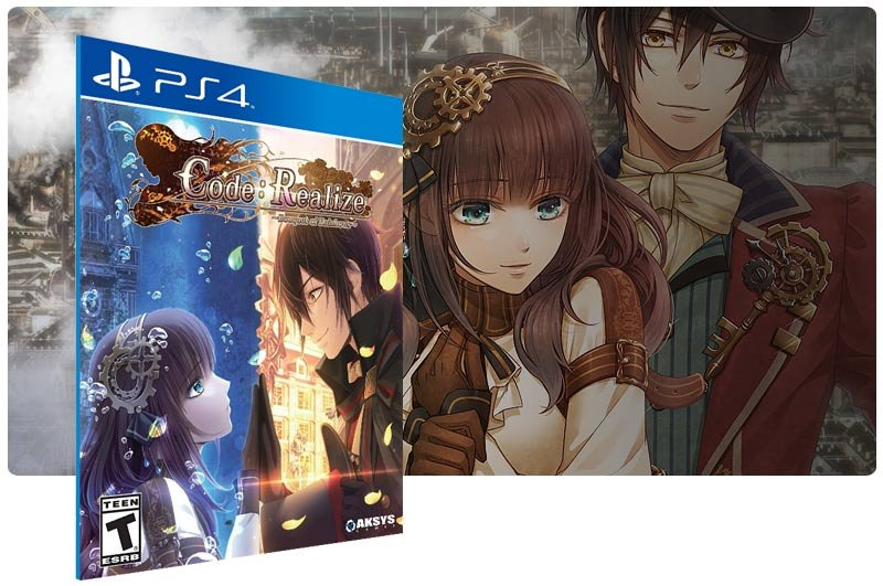 Banner do game Code Realize Bouquet of Rainbows em mídia digital para PS4
