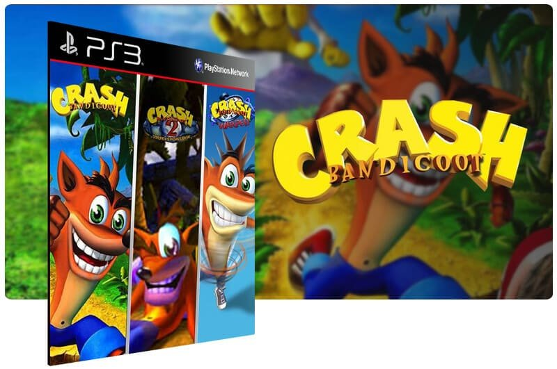 Banner do game Combo Crash Bandicoot 1 2 3 para PS3