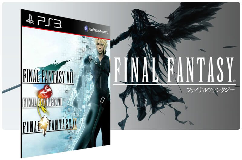 Banner do game Combo Final Fantasy 7 8 9 para PS3