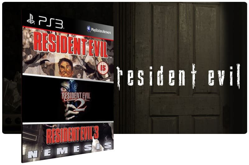 Banner do game Combo Resident Evil 1 2 3 para PS3