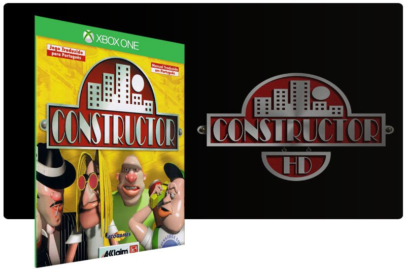 Banner do game Constructor em mídia digital para Xbox One