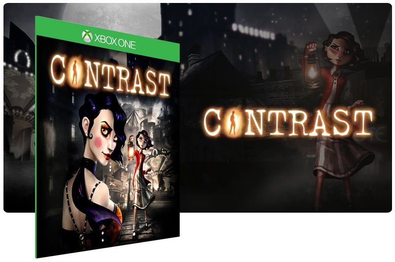 Banner do game Contrast em mídia digital para Xbox One