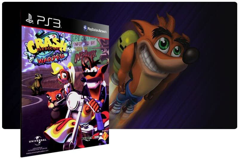 Banner do game Crash Bandicoot 3 para PS3
