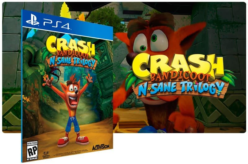 Banner do game Crash Bandicoot N. Sane Trilogy para PS4