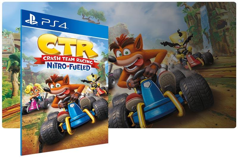 Banner do game Crash Team Racing Nitro-Fueled para PS4