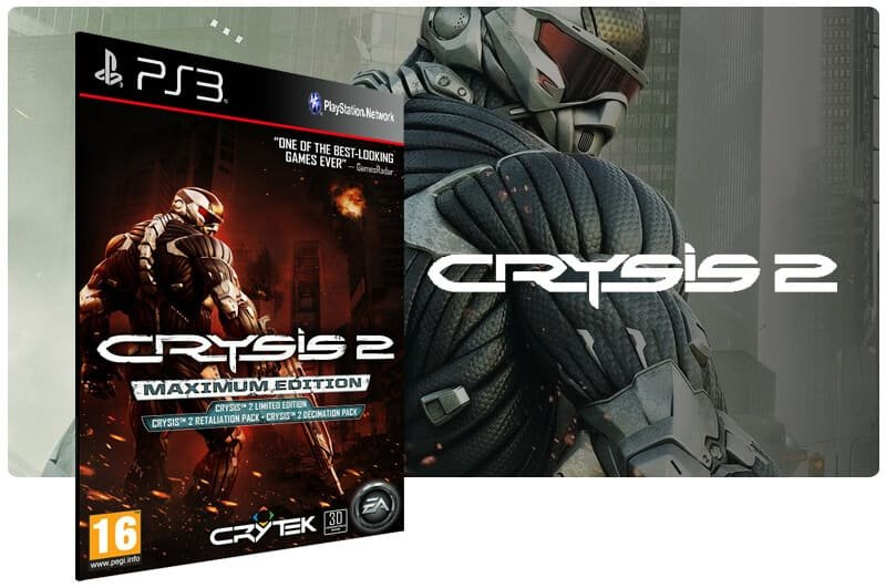 Banner do game Crysis 2 Maximum Edition para PS3