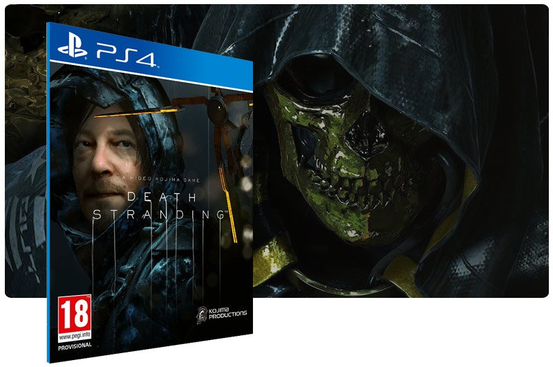 Banner do game DEATH STRANDING para PS4