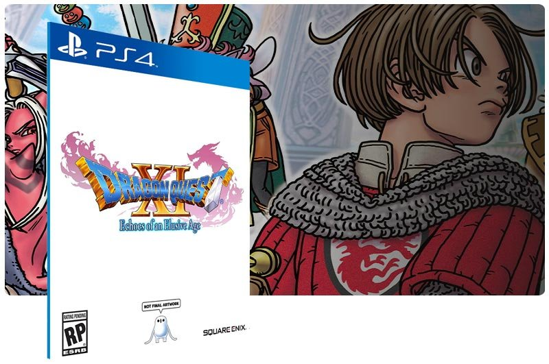 Banner do game DRAGON QUEST XI Echoes of an Elusive Age em mídia digital para PS4