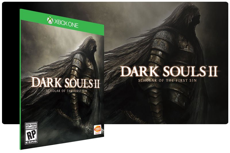 Banner do game Dark Souls 2: Scholar Of The First Sin em mídia digital para Xbox One