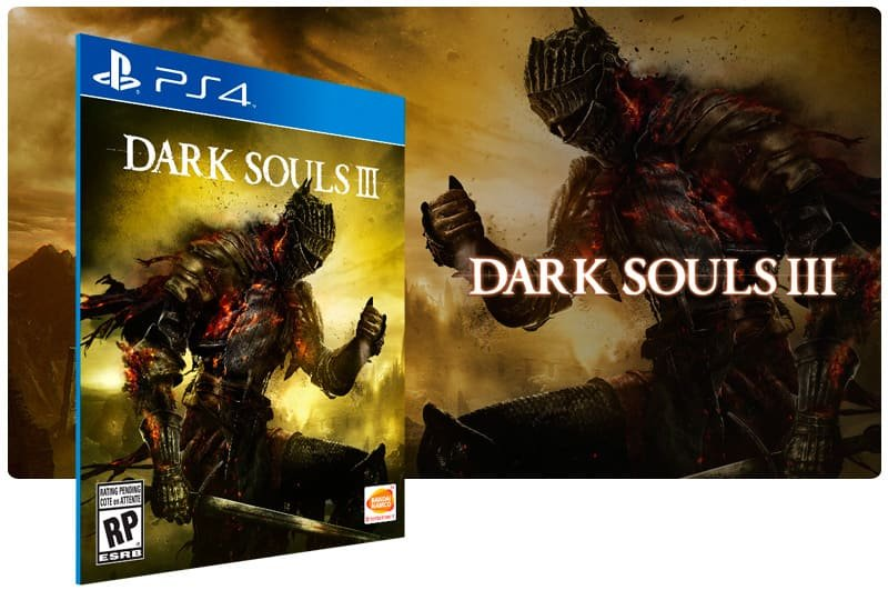 Banner do game Dark Souls 3 para PS4