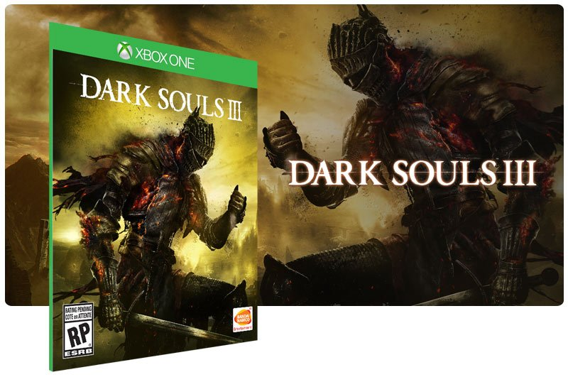 Banner do game Dark Souls 3 em mídia digital para Xbox One