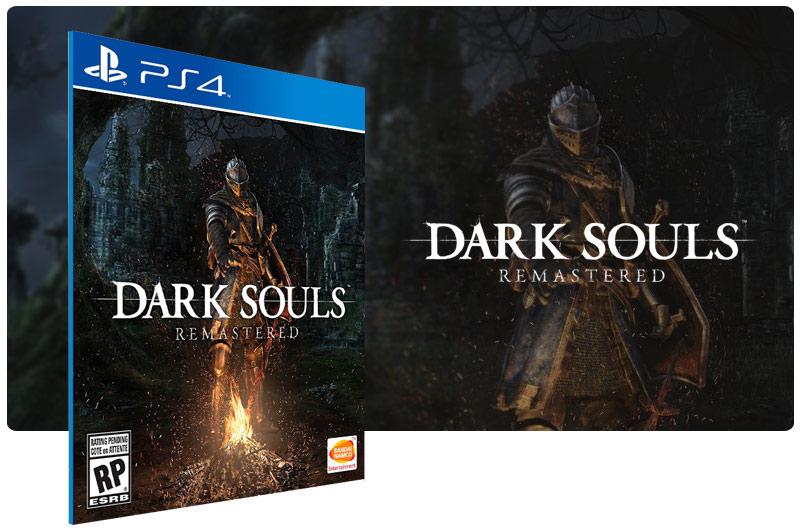 Banner do game Dark Souls Remastered em mídia digital para PS4
